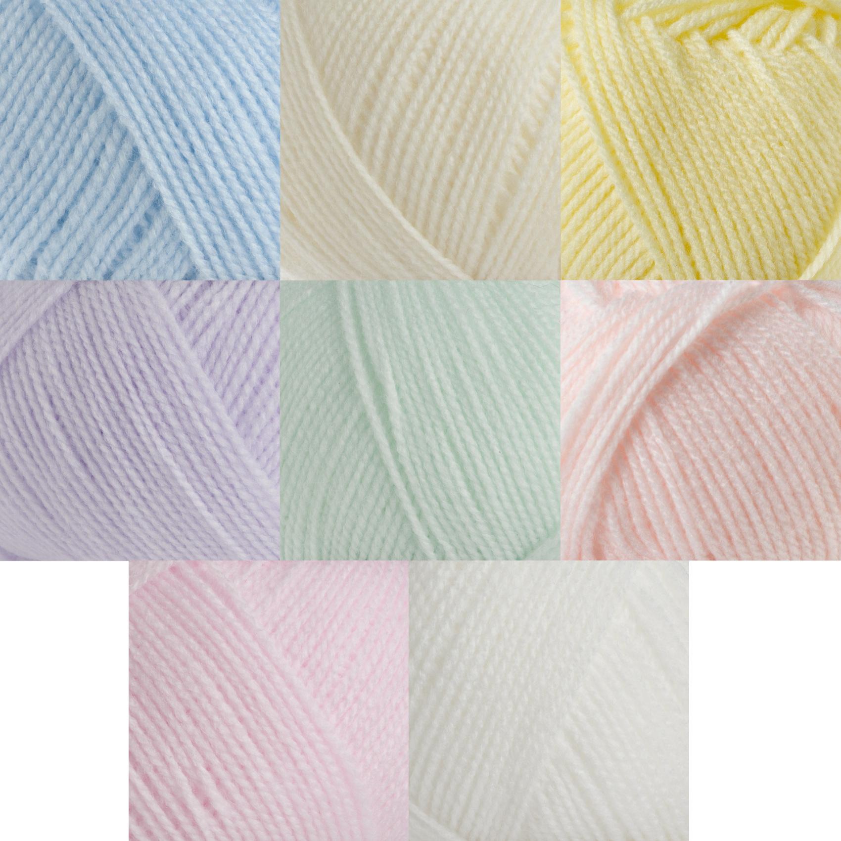 Aran Yarn : ... Brett Baby Aran Knitting Wool 100g / 500g Super Soft Craft Pastel Yarn