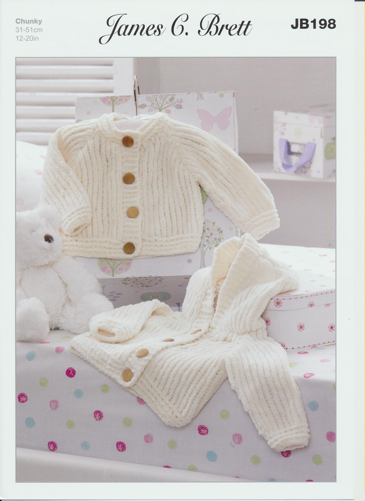James Brett Flutterby Chunky Knitting Pattern Childrens Woollen Jackets ...