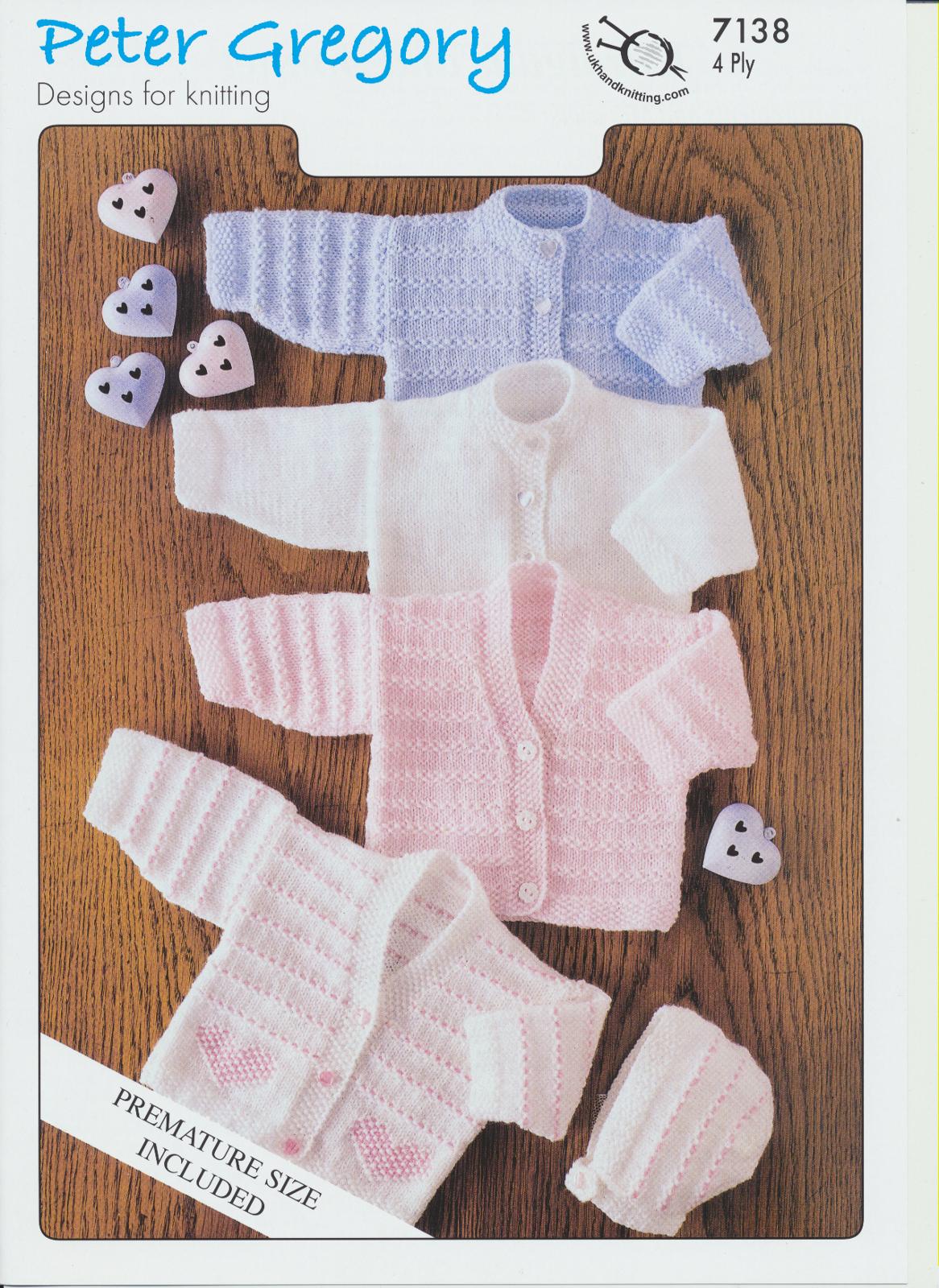 Scarves Knitting Patterns Free : 4 Ply Knitting Pattern Gosling & Snow Goose All Wool Cardigans & Bonn...