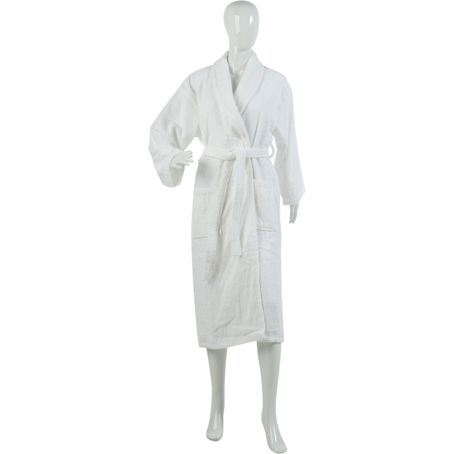 Ladies Plain Towelling Dressing Gown Womens 100% Cotton Wrap ...