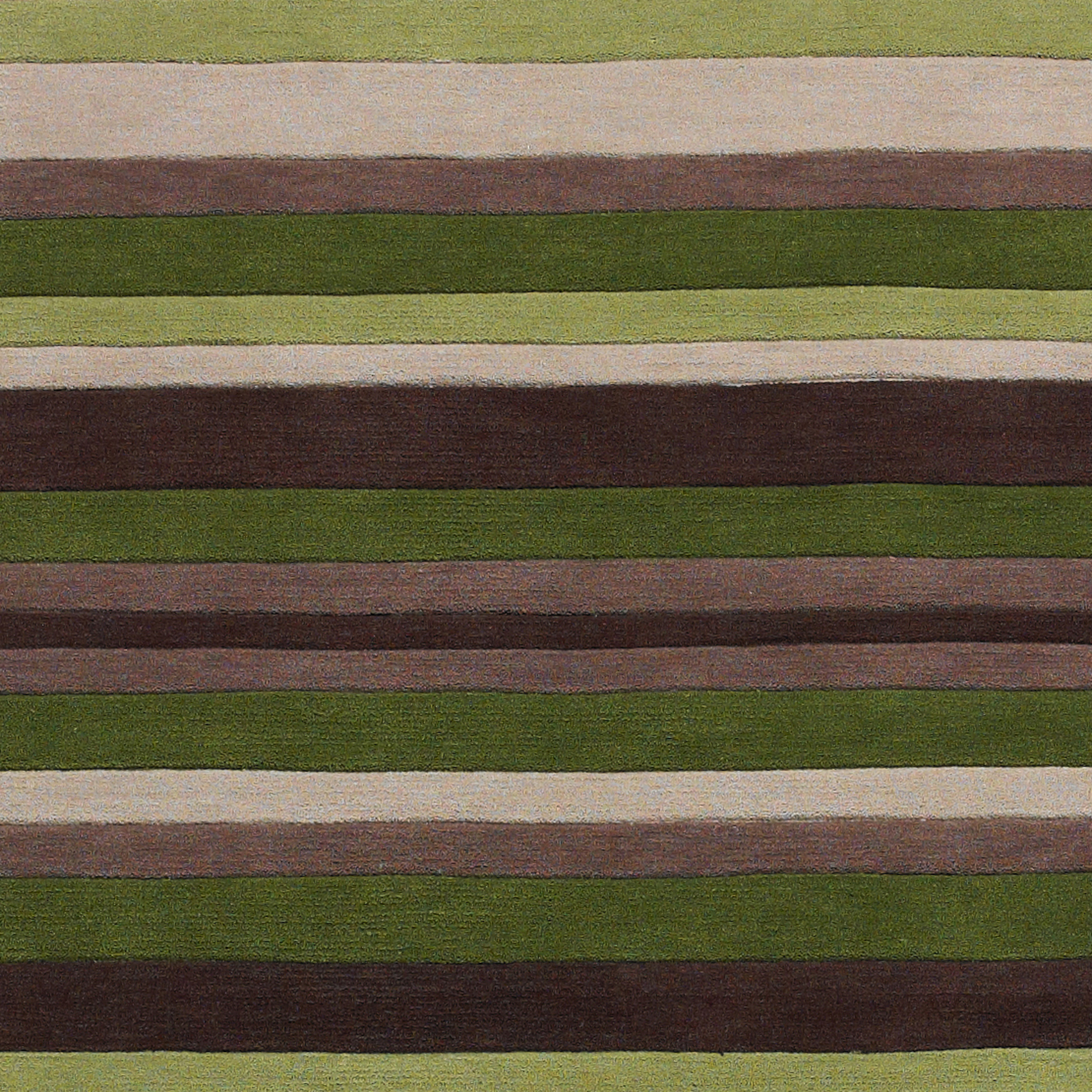 Green Striped 100% Acrylic Rug Large Hand Tufted Hong Kong