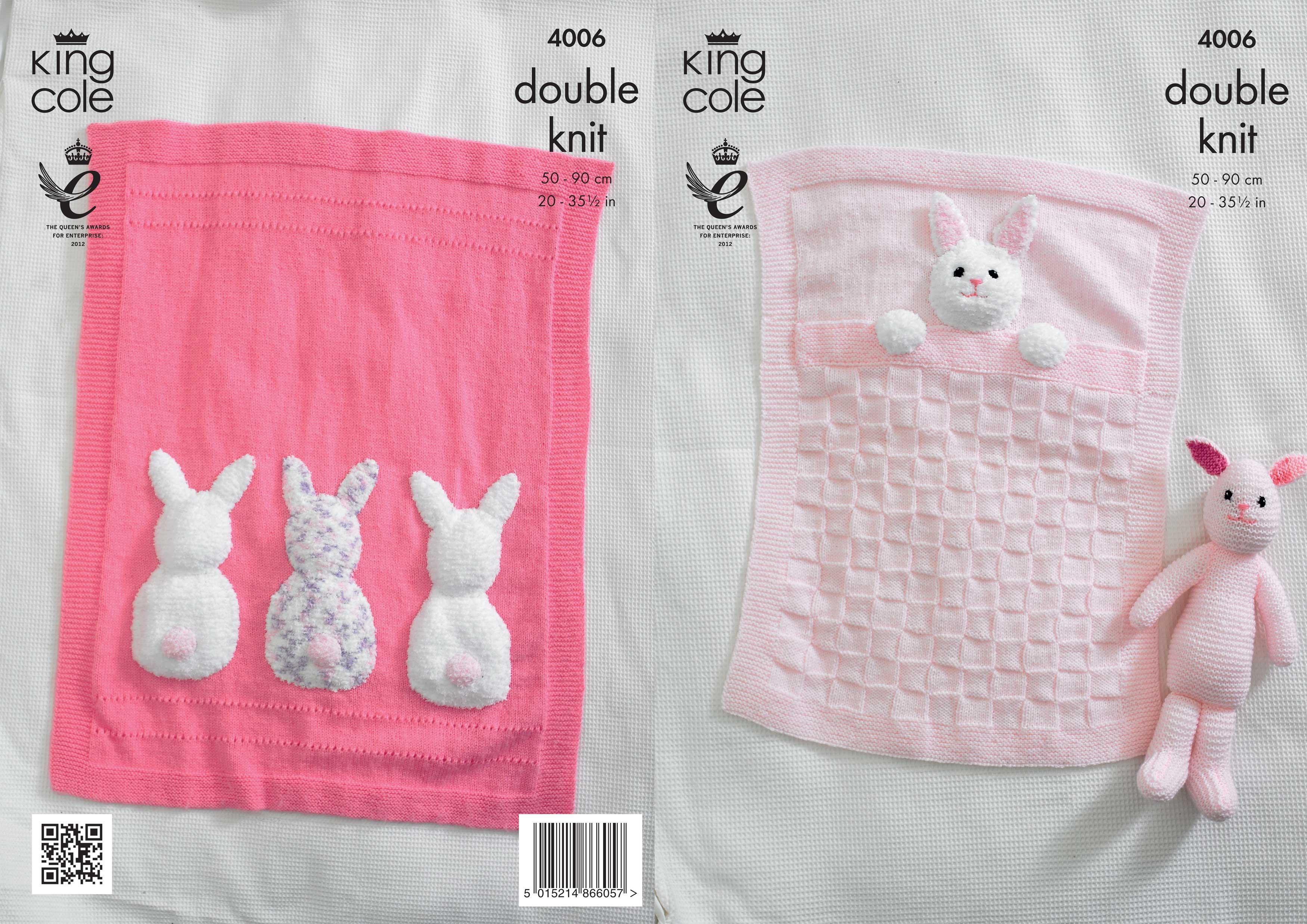 Double Knitting Blanket Patterns Knit Pattern Blanket Bunny
