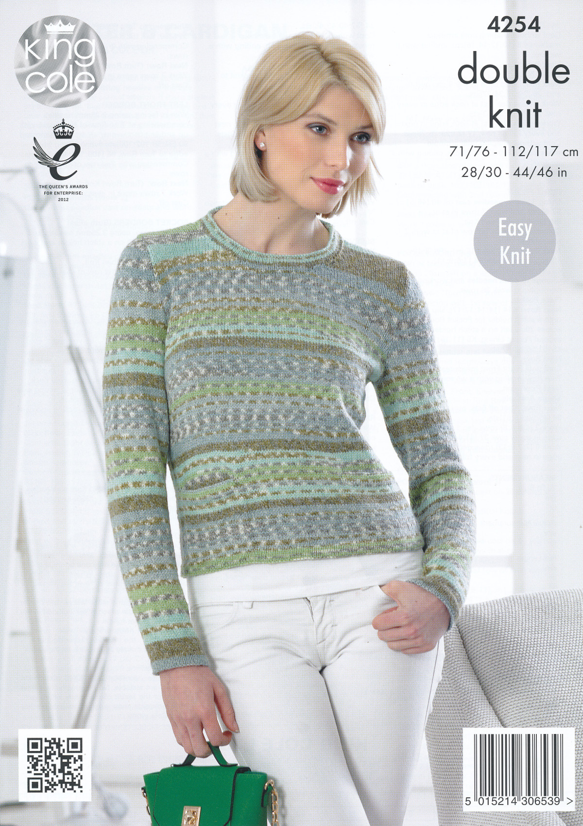 Women s Cardigan Knitting Patterns : King Cole Womens Double Knitting Pattern Ladies Round Neck Sweater Cardigan 4...
