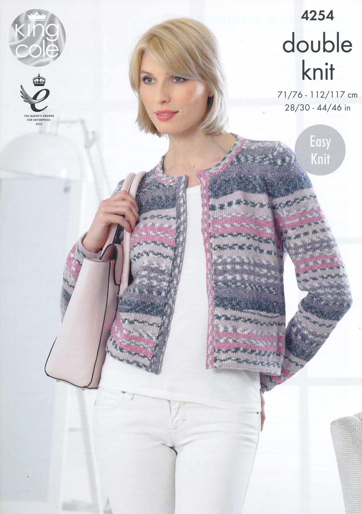 Knitting Lessons London : Ladies double knitting pattern king cole womens dk sweater