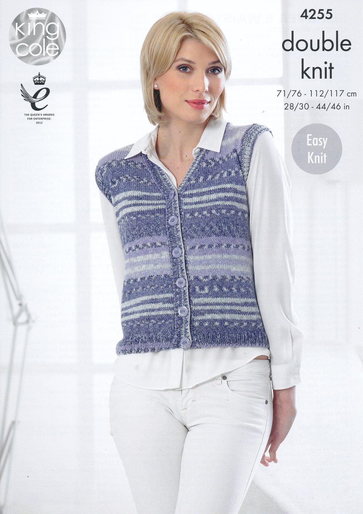 Womens Waistcoat Sleeveless Slipover Knitting Pattern ...