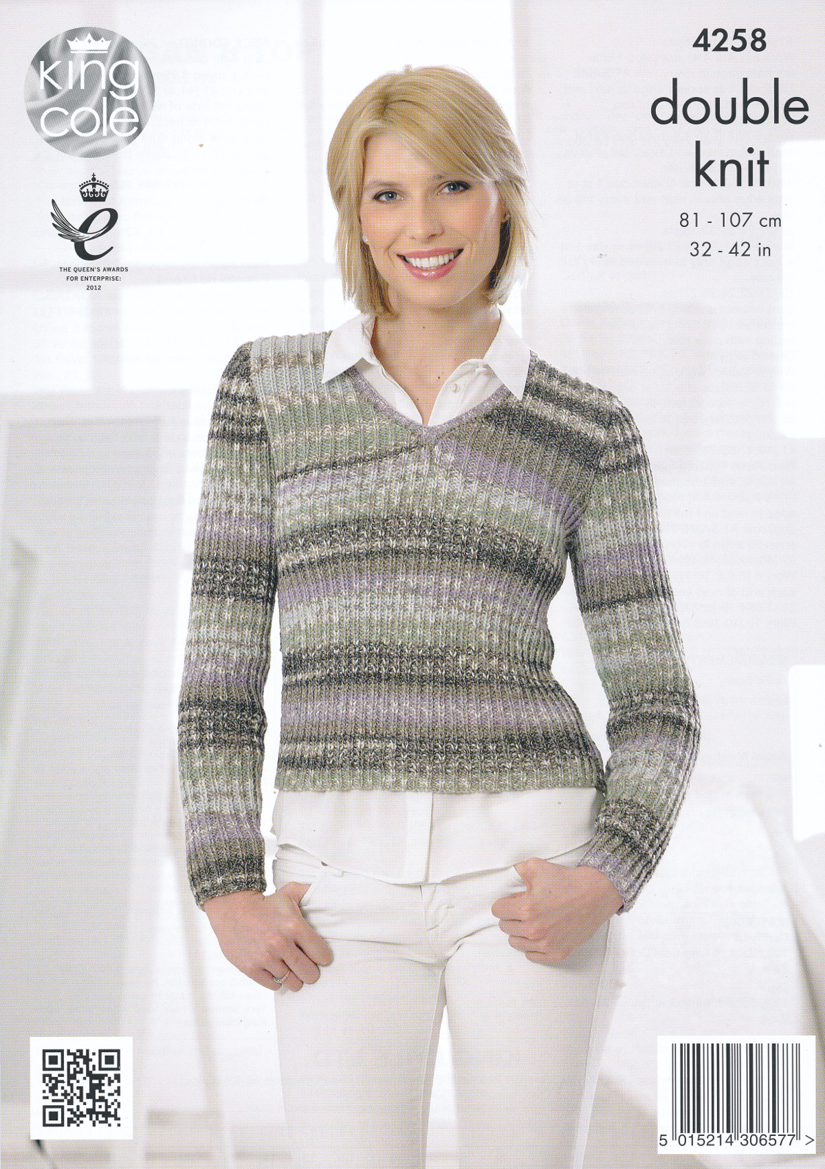 Knitting Pattern Ladies V Neck Jumper : King Cole Womens Double Knitting Pattern Ladies V Neck Cardigan Jumper DK 4258