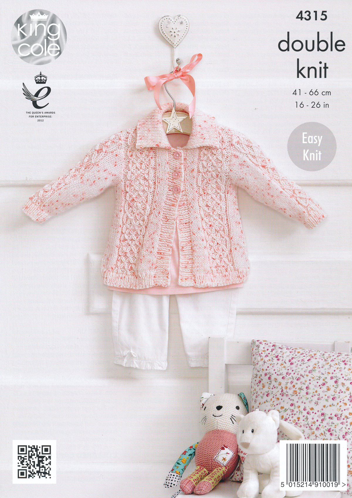Free Baby Double Knitting Patterns : King Cole Double Knitting Pattern Baby Coat Collared Cardigan Hat Smarty DK 4...