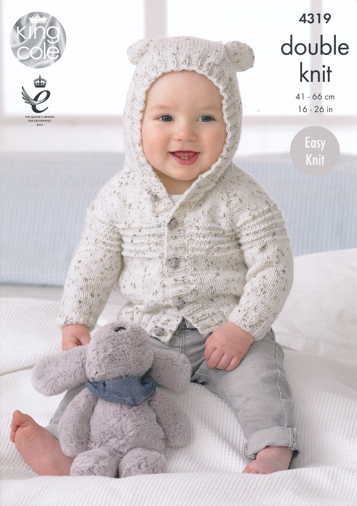 King Cole Double Knitting Pattern Baby Cardigans Hat Easy Knit Smarty DK 4319...