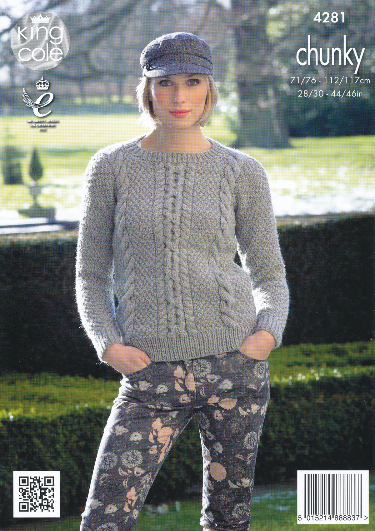 Knitting Pattern Ladies Cable Jumper : Womens Chunky Knit Pattern King Cole Ladies Cable Detail ...
