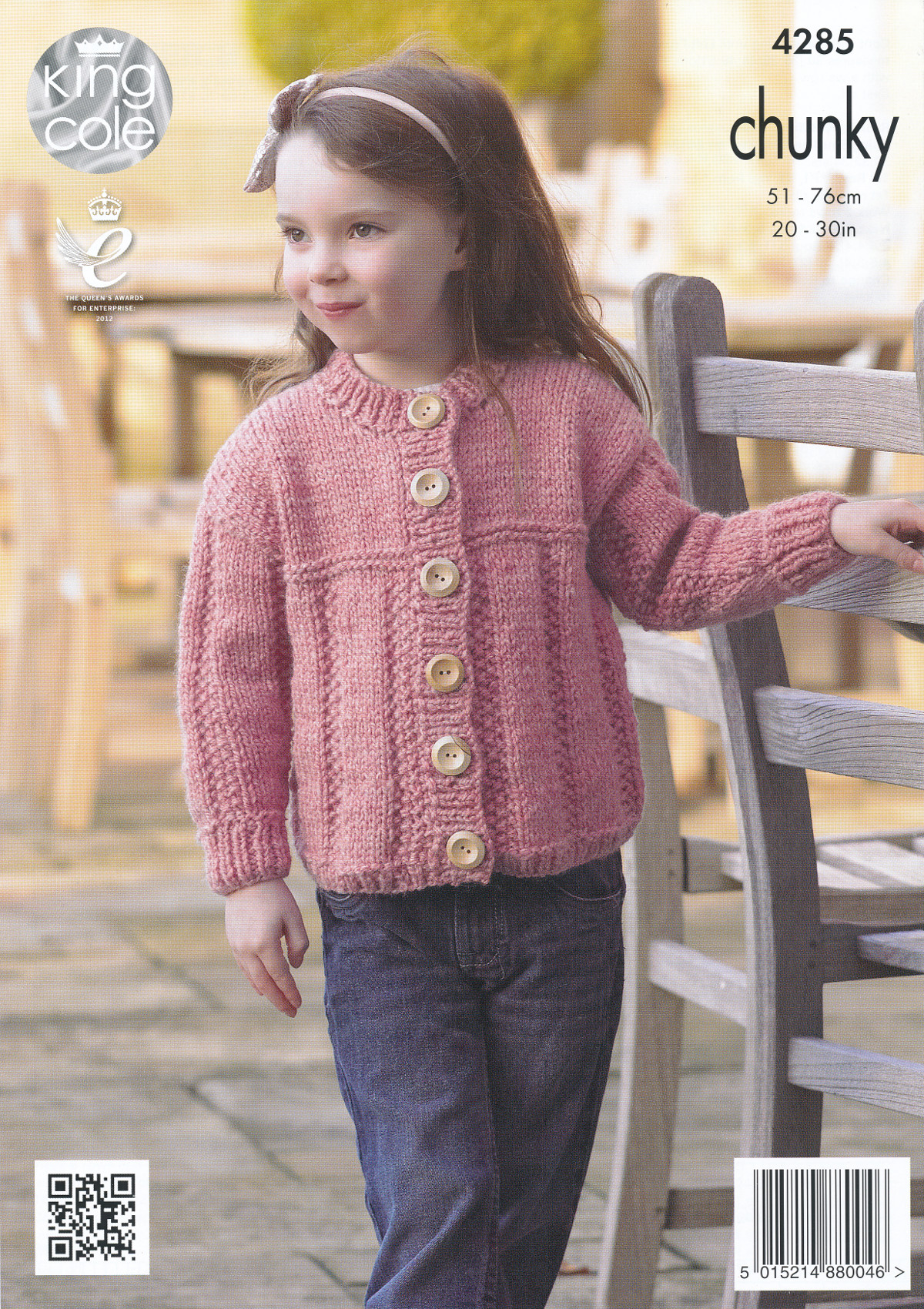 Kids Chunky Knitting Pattern King Cole Childrens Sweater Jumper Cardigan 4285...