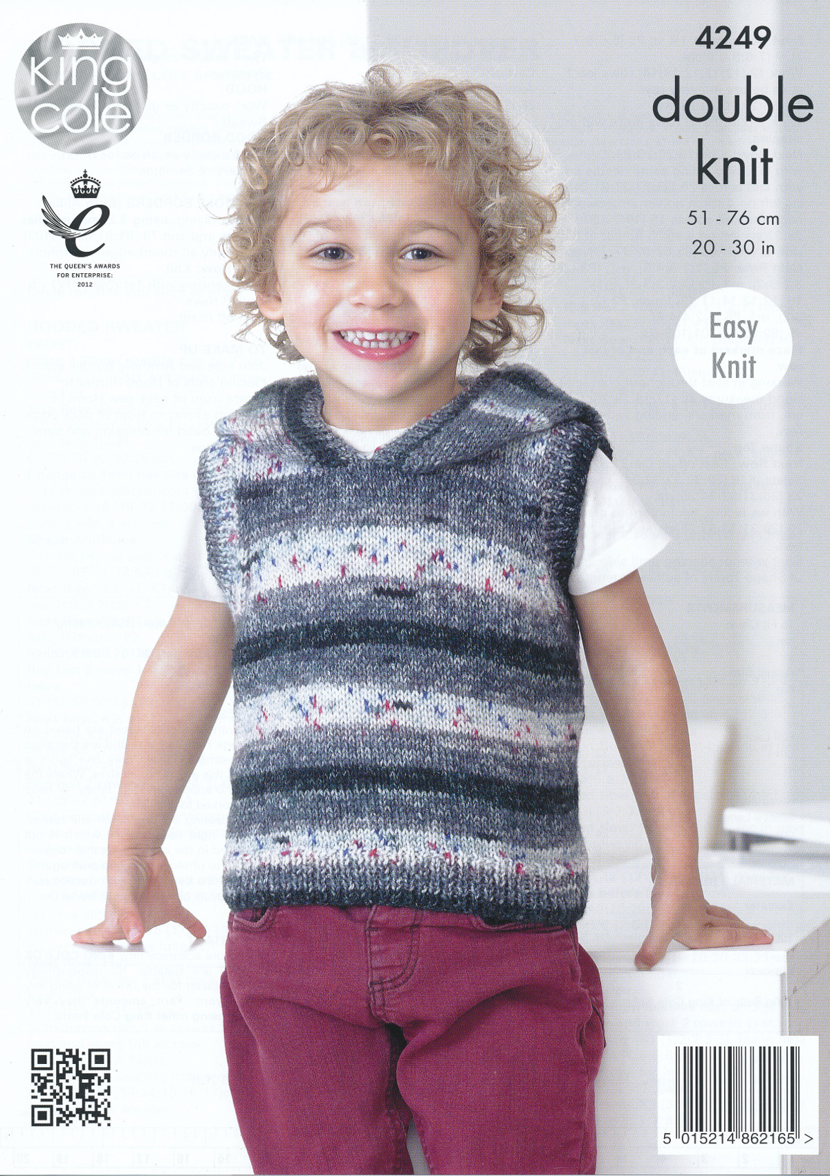 King Cole Knitting Pattern 3318 : Kids Double Knitting Pattern King Cole Hooded Jumper Pullover Splash DK 4249 ...