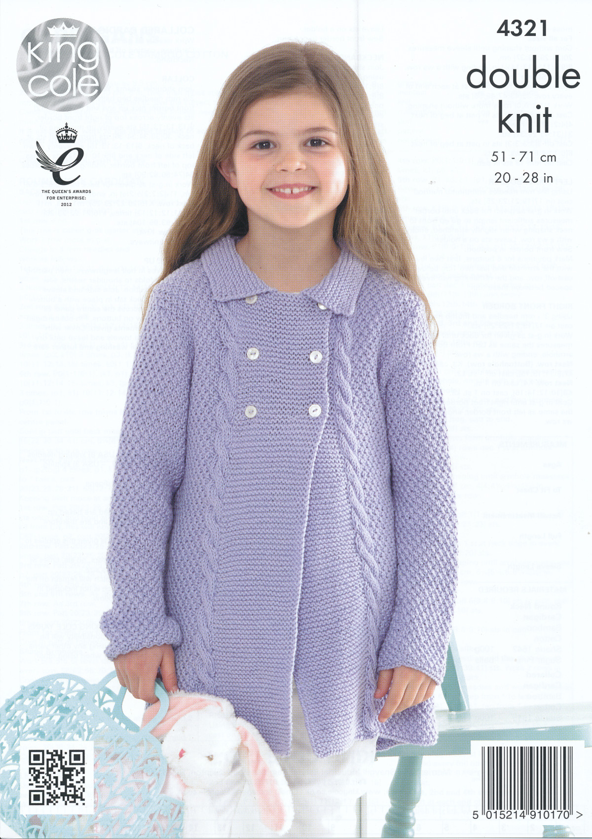 Knitting Patterns For King Cole Bamboo Cotton : Kids Double Knitting Pattern King Cole Girls Cardigans Bamboo Cotton DK 4321 ...