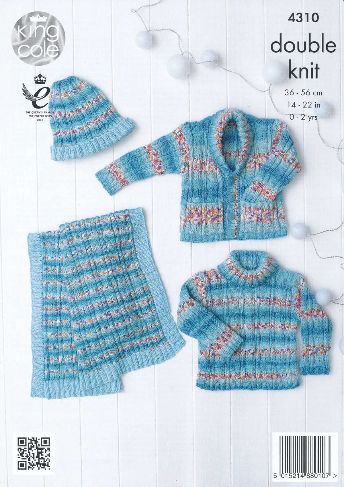 King Cole Double Knitting Pattern Baby Sweater Waistcoat ...