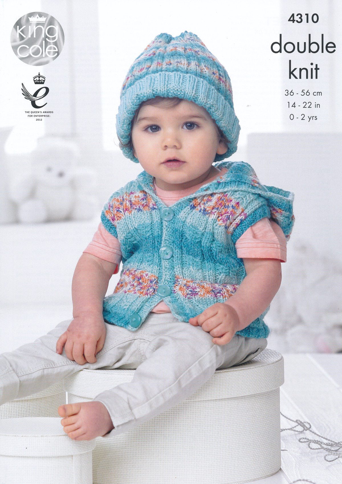 Knitting Patterns For Babies Double Knitting : Baby Drifter DK Knitting Pattern King Cole Jumper Waistcoat Jacket Blanket 43...