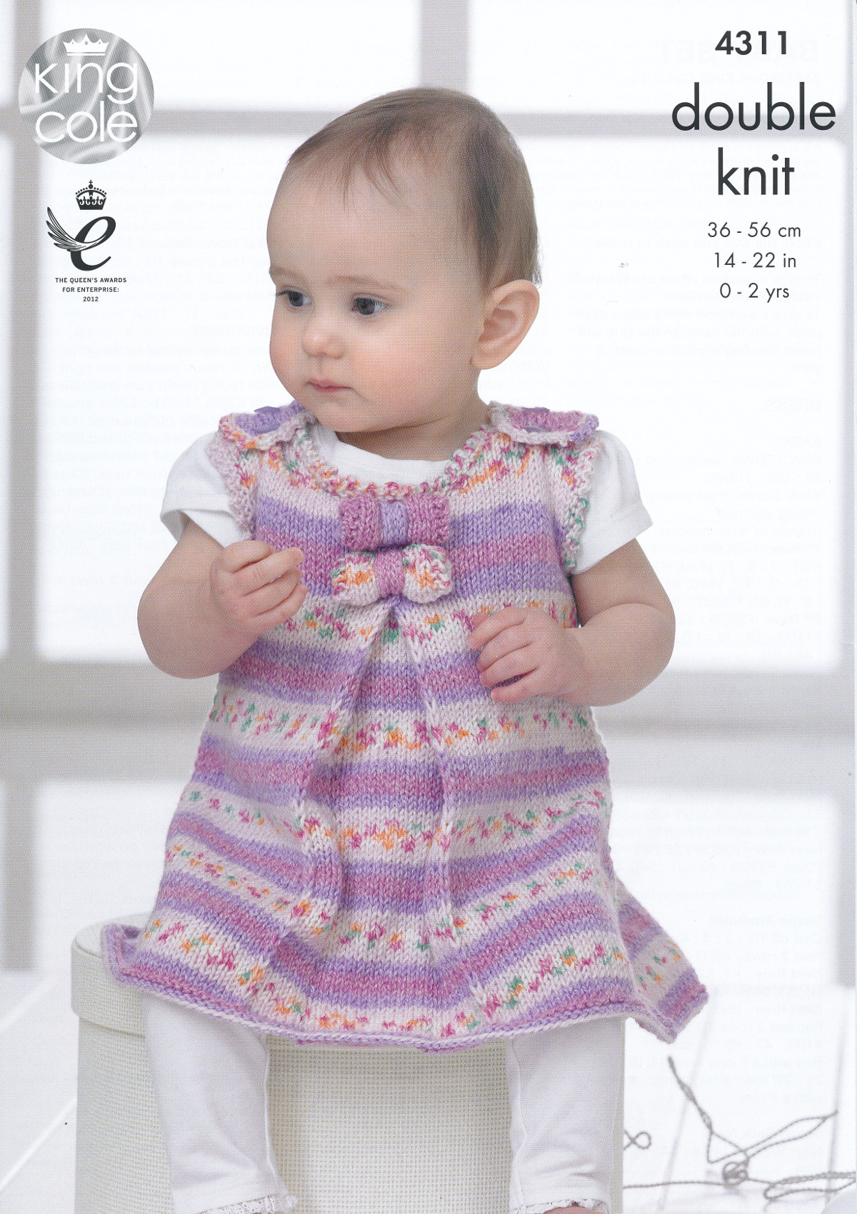 Example Of Knitting Pattern : Baby Drifter DK Knitting Pattern King Cole Kids Tunic Coat Dress Hat Set 4311...