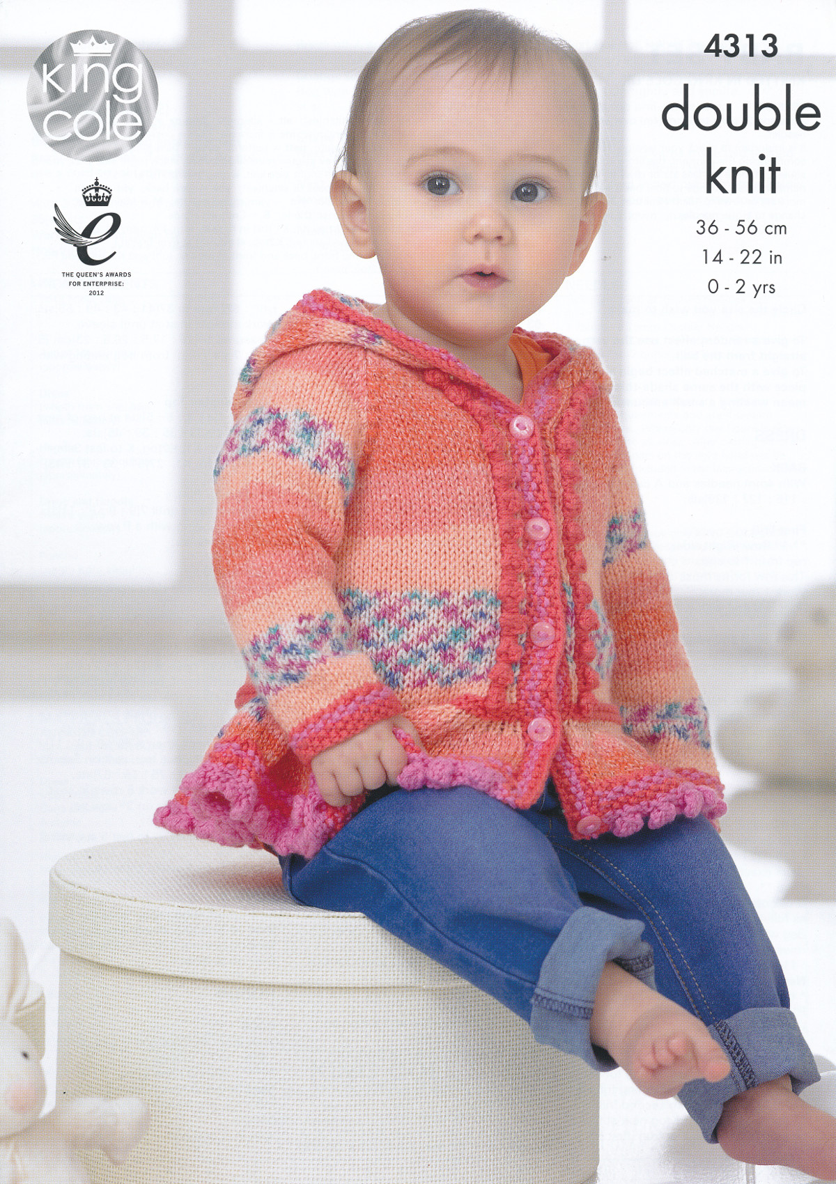 Double Knitting Patterns For Poncho : Baby Drifter DK Knitting Pattern King Cole Hoodie Dress ...