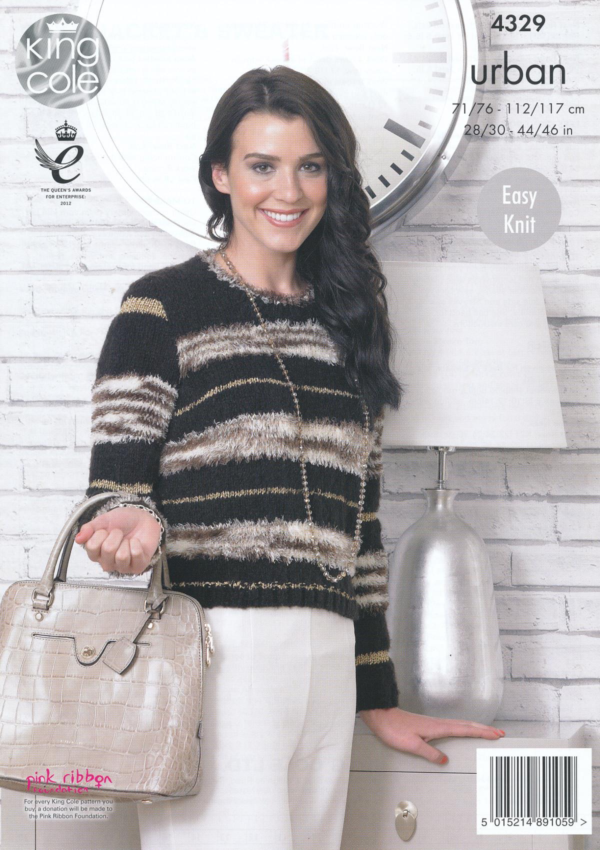 King Cole Knitting Pattern 3318 : Womens Knitting Pattern King Cole Urban Easy Knit Boxy Jacket & Sweater 4329