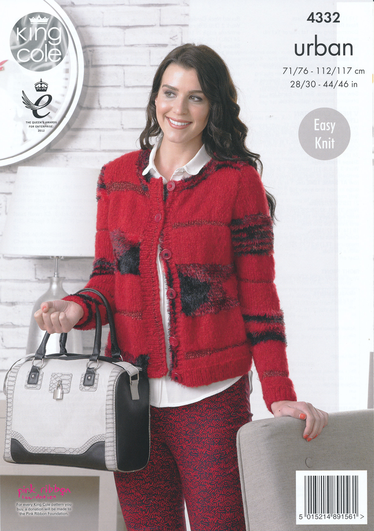 Womens Knitting Pattern King Cole Urban Easy Knit Long Sleeved Cardigans 4332...