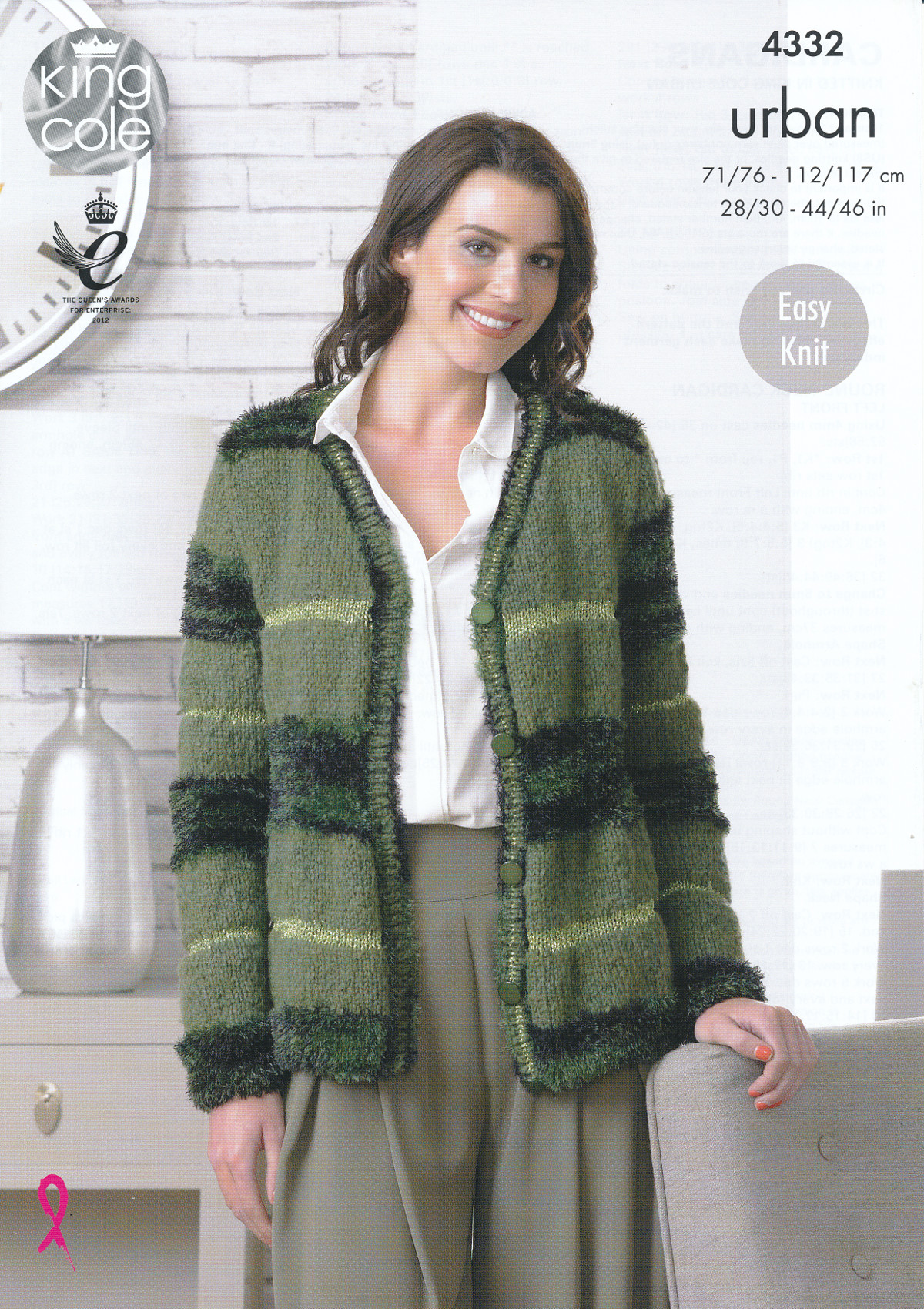 Free Knitting Patterns For Dogs Sweater : King Cole Urban Knitting Pattern Ladies Easy Knit Long Sleeved Cardigans 4332