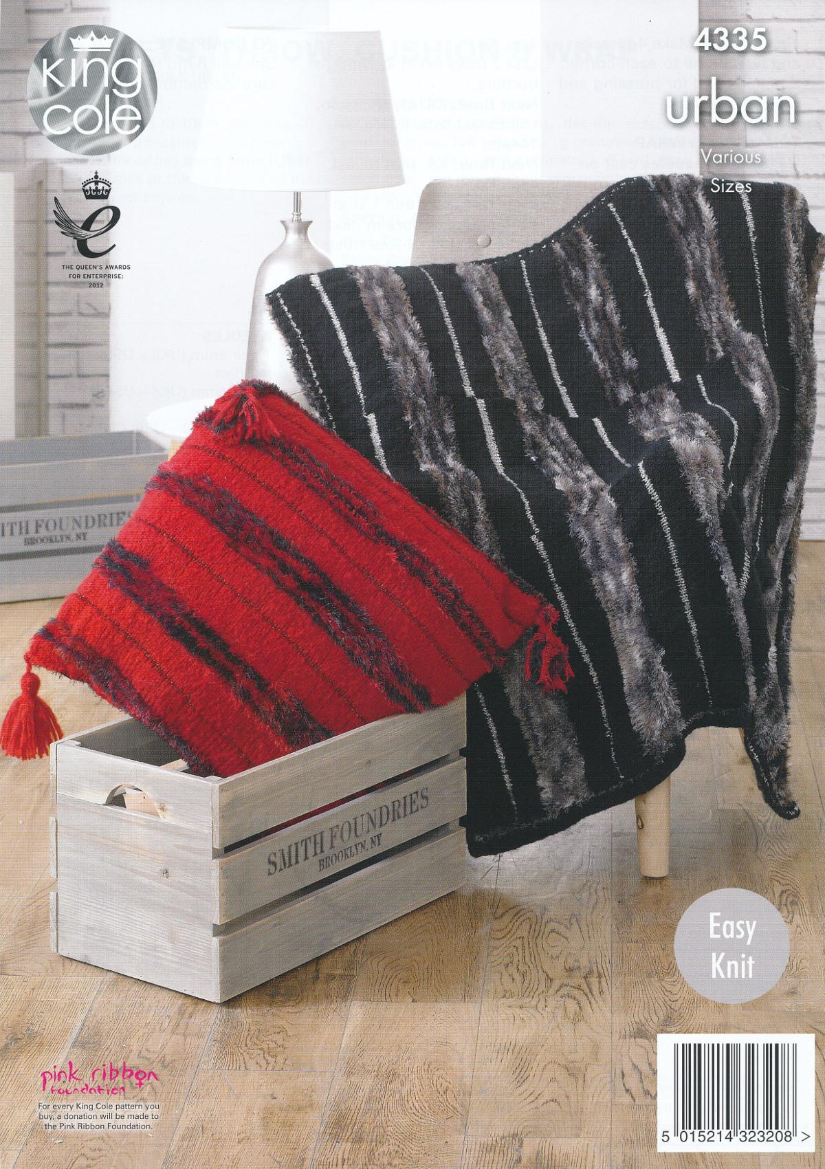 Knitting Pattern Blanket Wrap : Easy Knit Knitting Pattern Blankets Throw Cushion & Wrap King Cole Urban ...