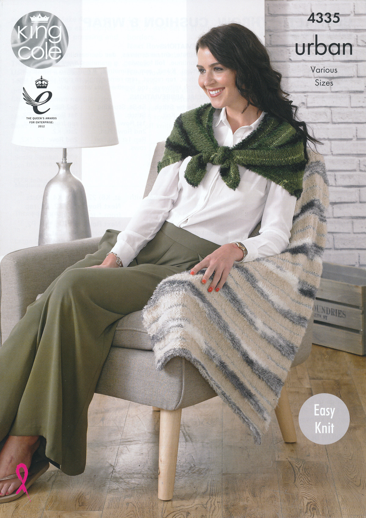 King Cole Urban Knitting Pattern Throw Blankets Cushion & Wrap Easy Knit ...