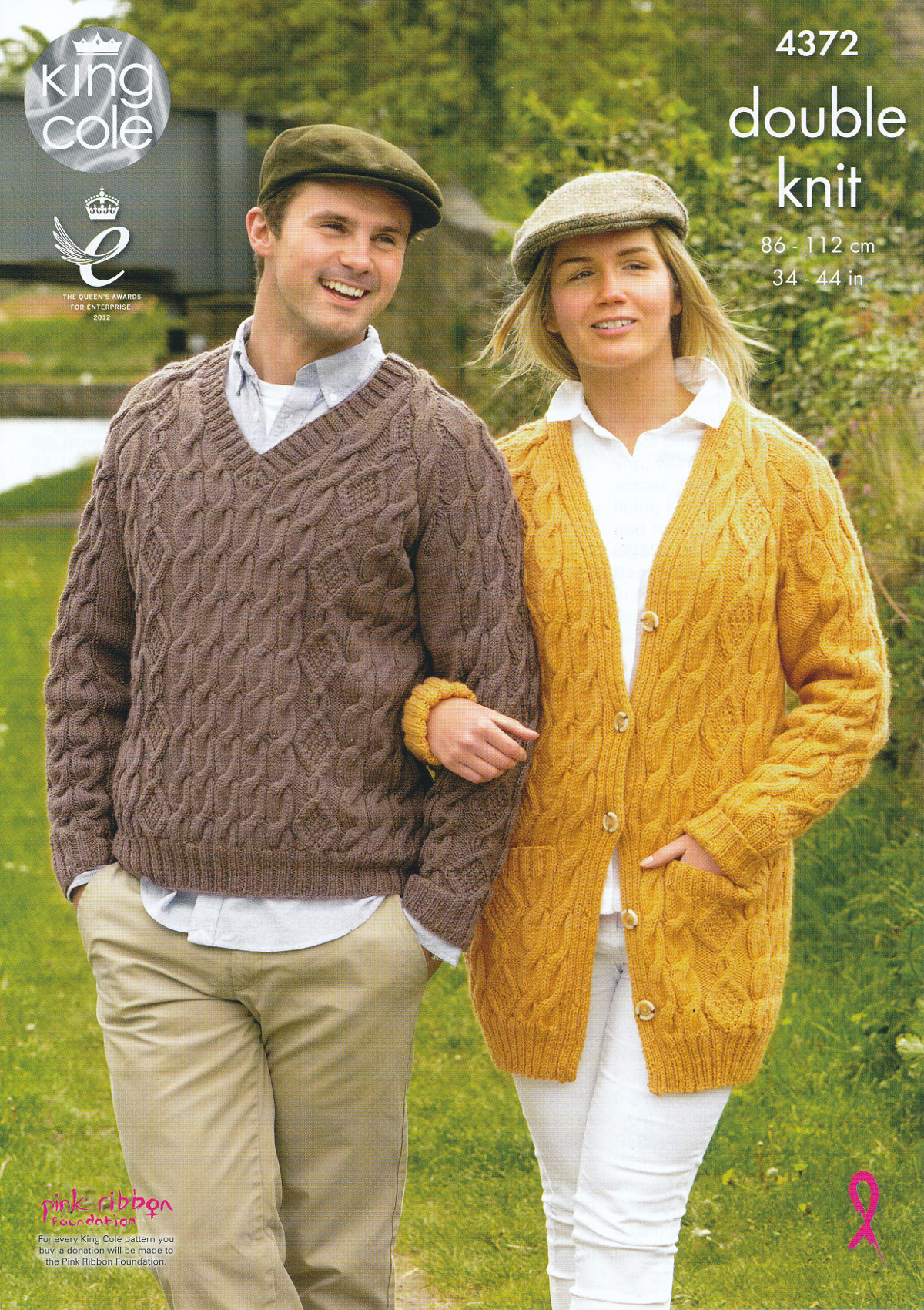 King Cole Ladies Mens Double Knitting Pattern Cable Knit ...