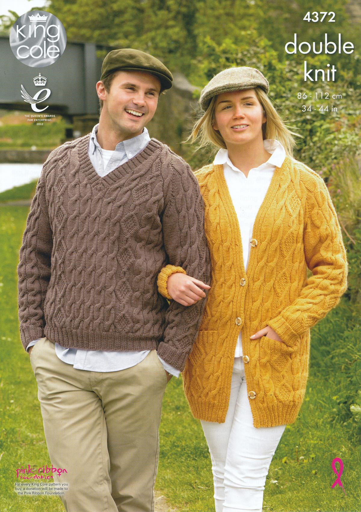King Cole Knitting Pattern 3318 : King Cole Ladies Mens Double Knitting Pattern Cable Knit Jumper Cardigan DK 4...