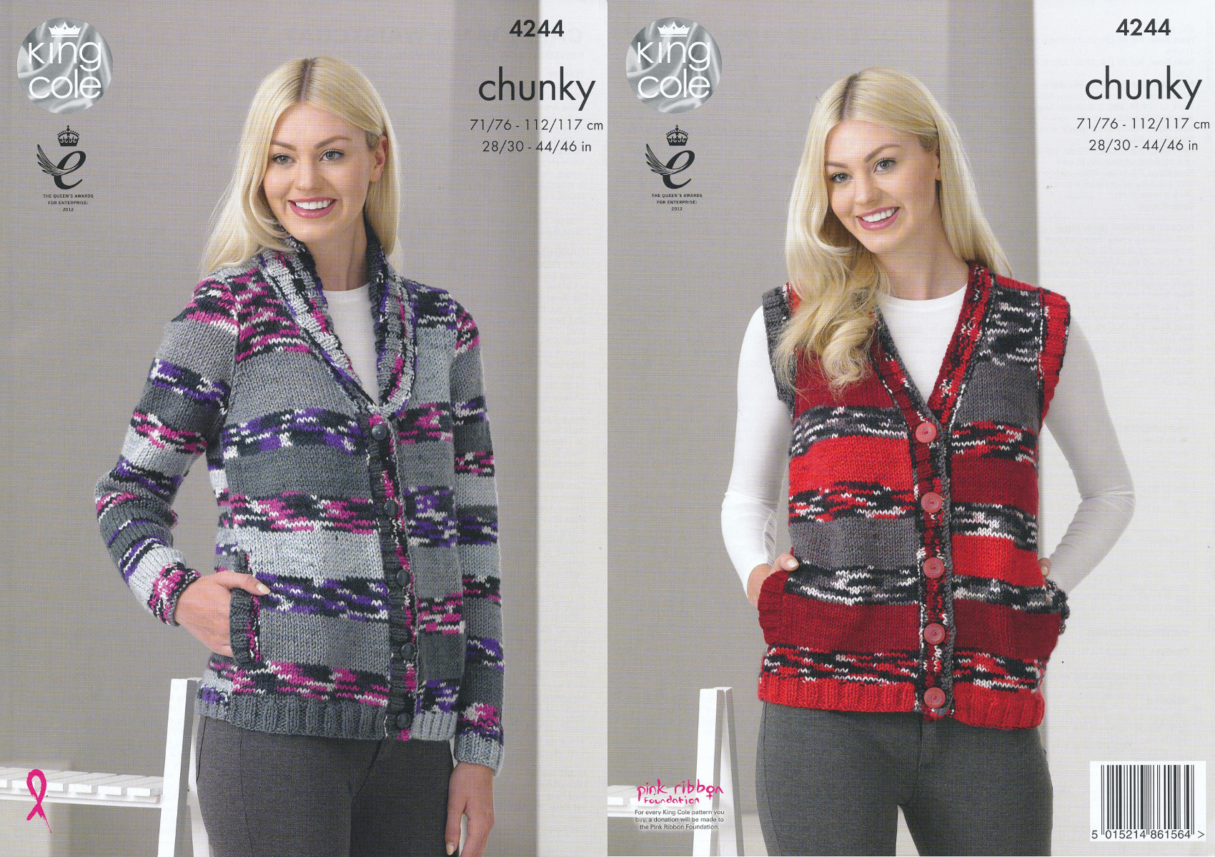 King Cole Ladies Chunky Knitting Pattern Cardigan ...
