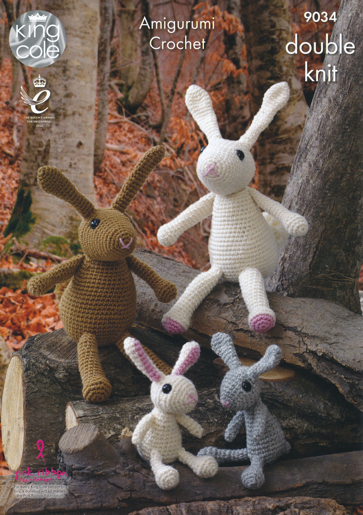 Crochet Patterns King Cole : King Cole Amigurumi Crochet Double Knitting DK Pattern Rabbit Family ...