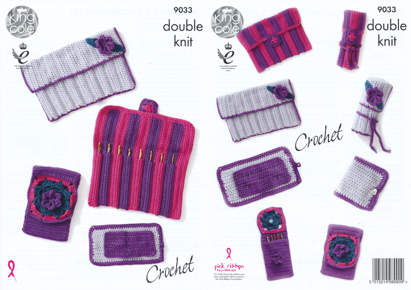 Knitting Accessories Patterns : King cole double knit crochet pattern hook roll needle