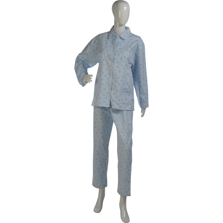 Womens Floral Pyjamas Ladies 100/% Brushed Cotton Pjs Nightwear Set Blue Pink