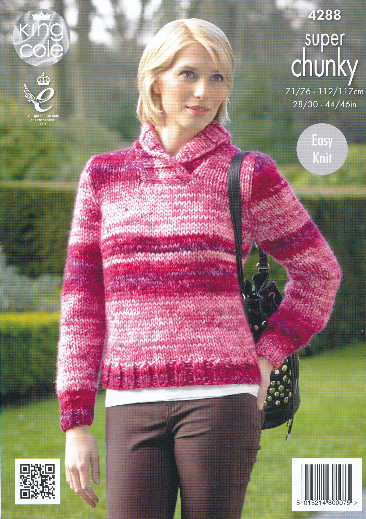 Super Chunky Jumper Knitting Pattern : Ladies Super Chunky Knitting Pattern King Cole Ribbed Jacket Sweater Jumper 4...