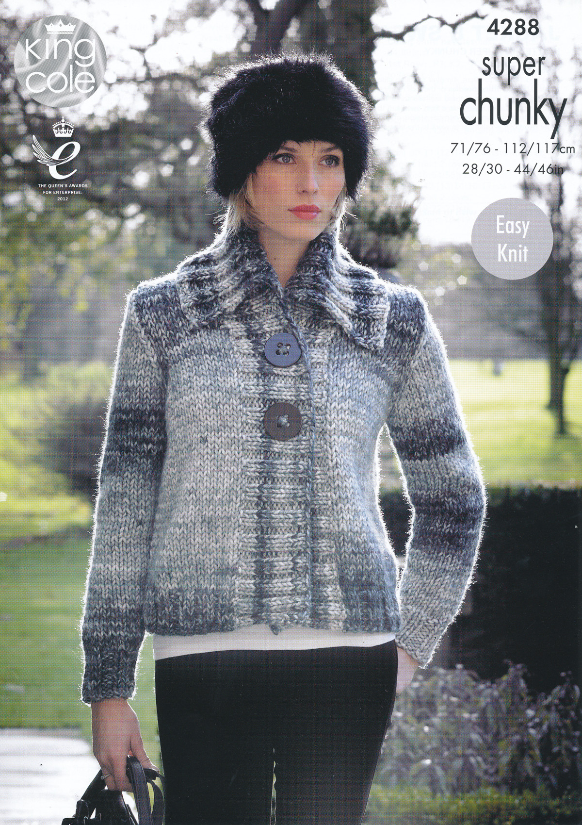Ladies Super Chunky Knitting Pattern King Cole Ribbed ...