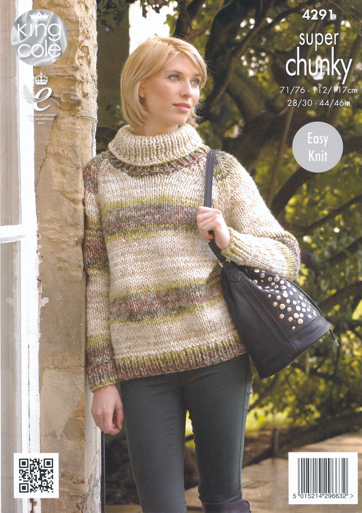 Ladies Super Chunky Knitting Pattern King Cole Polo Neck Jumper Cardigan 4291...