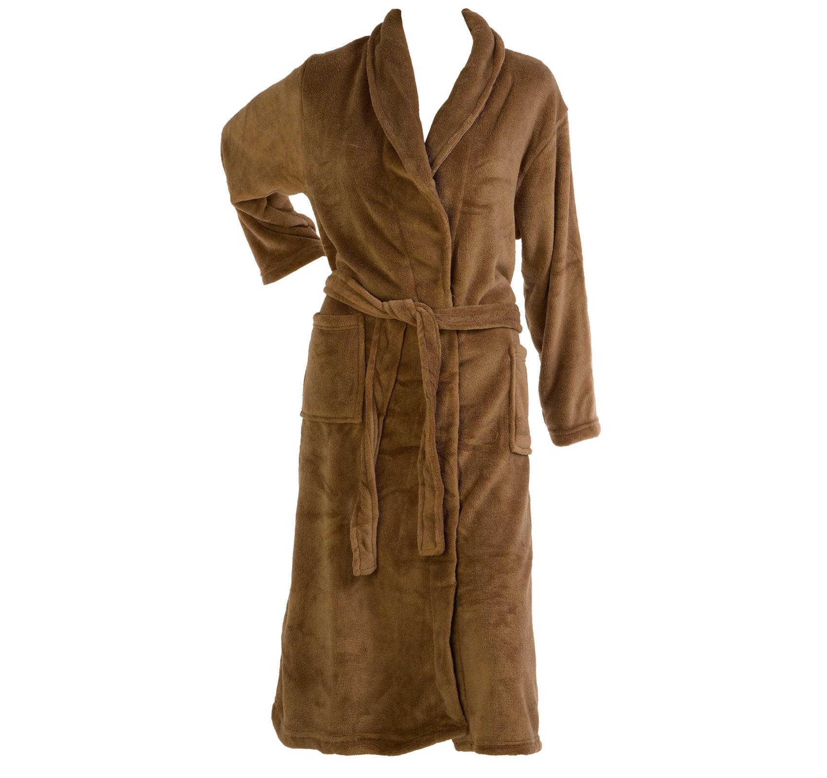 Slenderella Thick Soft Fleece Shawl Collar Dressing Gown Wrap ...