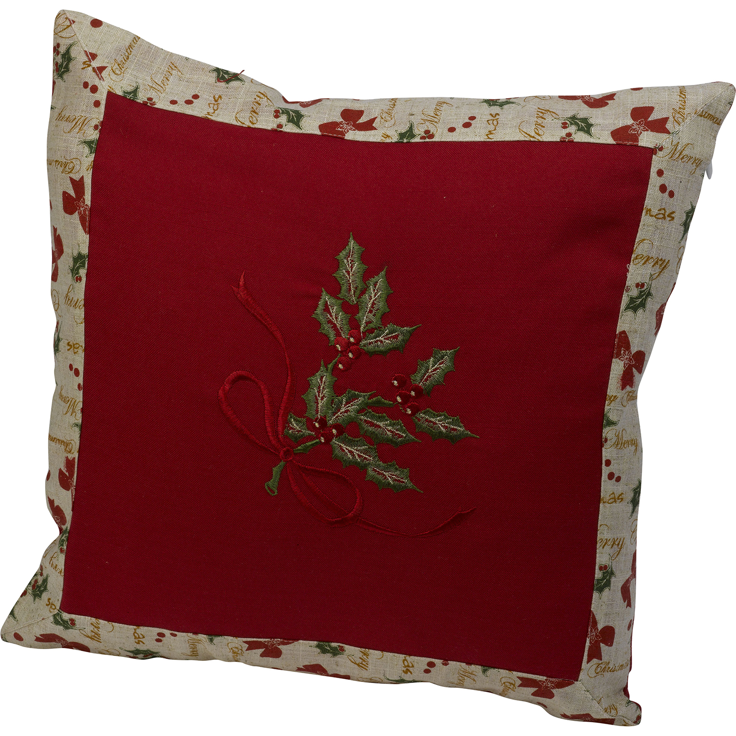 "% Polyester embroidered cushion cover with zipper closure. Size 18"" X 18"