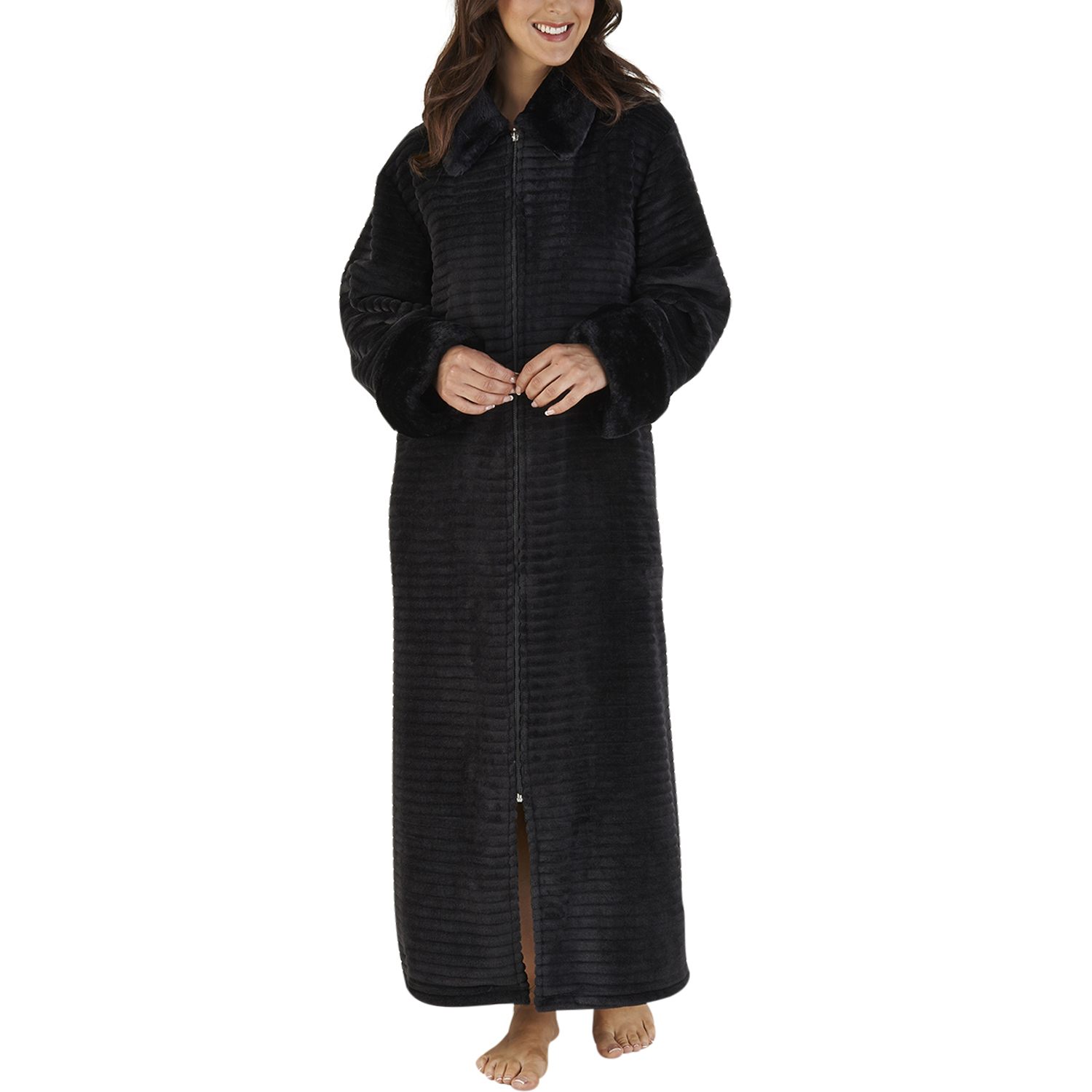 Women's Cotton, Dress-Style Bath Robe, Housecoat Dressing Gown, Zip Up and Belt See more like this New Women Girl Cotton Housecoat Dressing Gown Bathrobe Zip Up Size UK 8 10 12 14 Brand New.