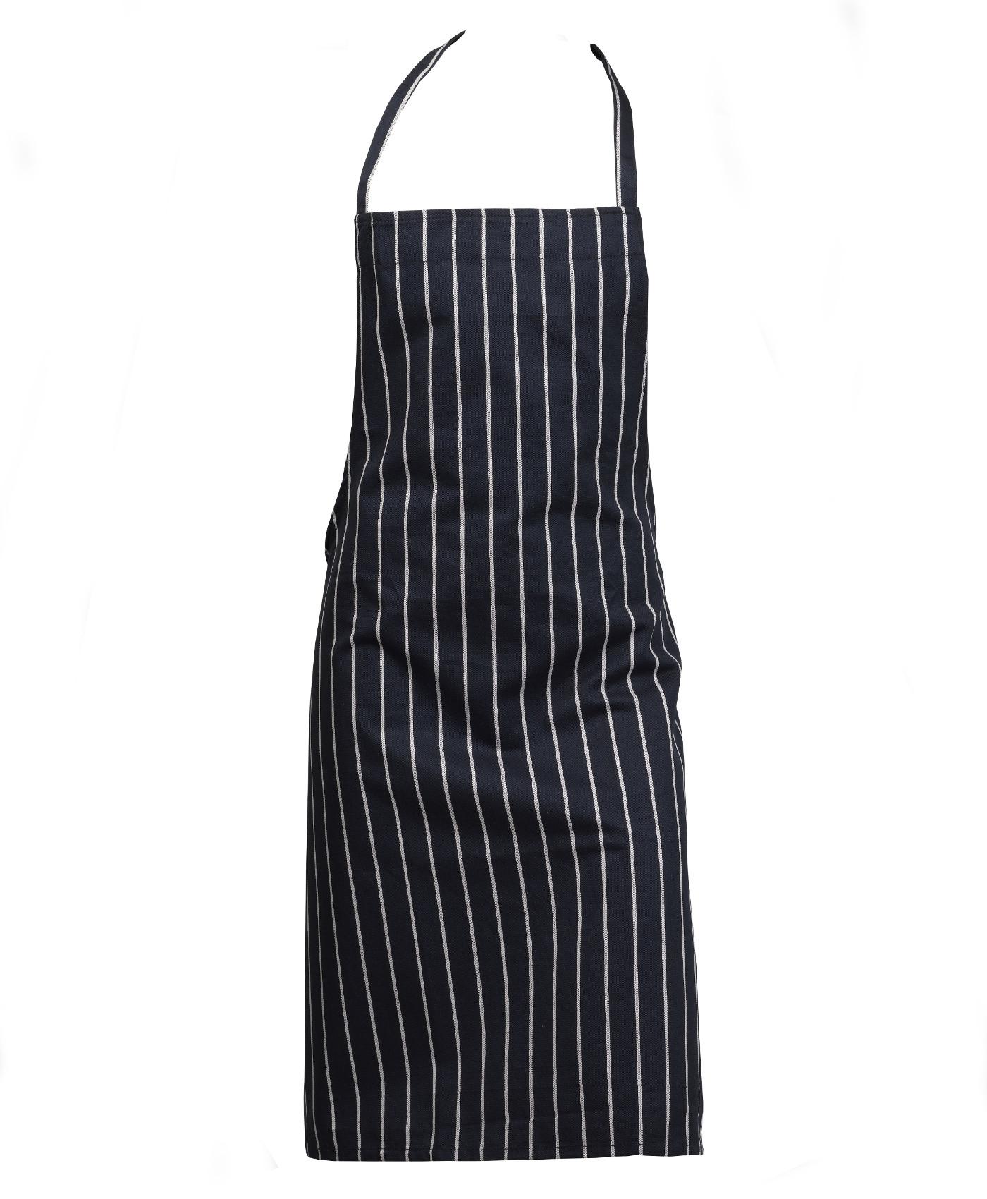 White bakers apron - 100 Cotton Woven Stripe Butchers Bib Apron Cooks