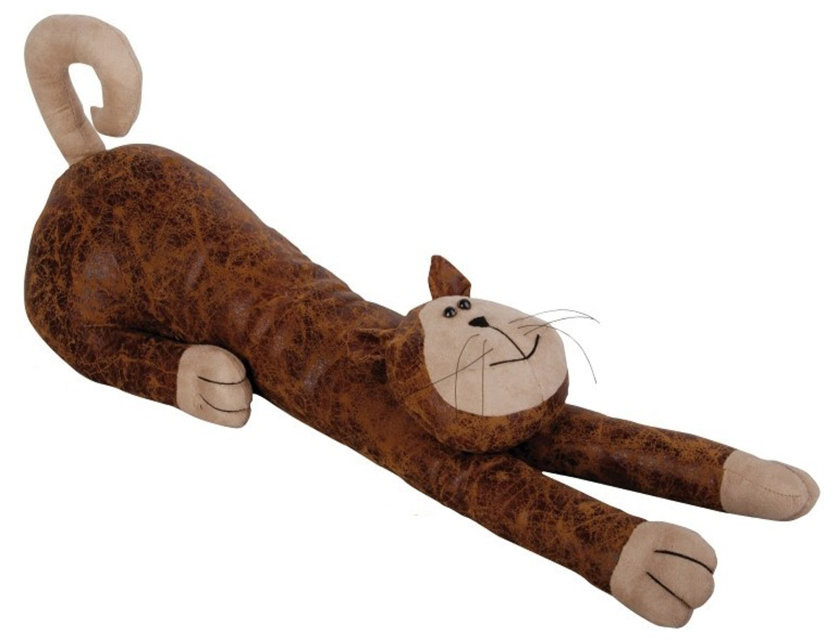Faux leather suede animal draught excluder heavy door stop for Door draught excluder