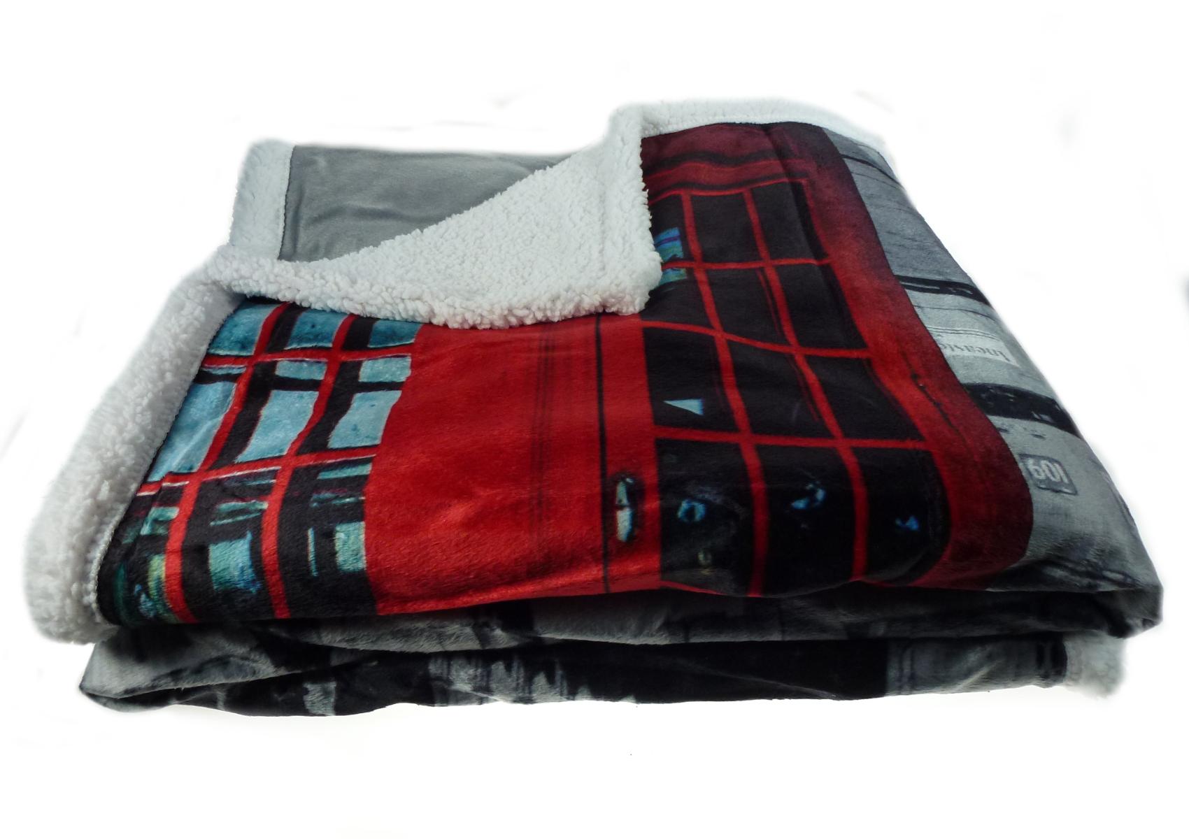 London big ben phone box blanket soft sherpa fleece for Sherpa blanket
