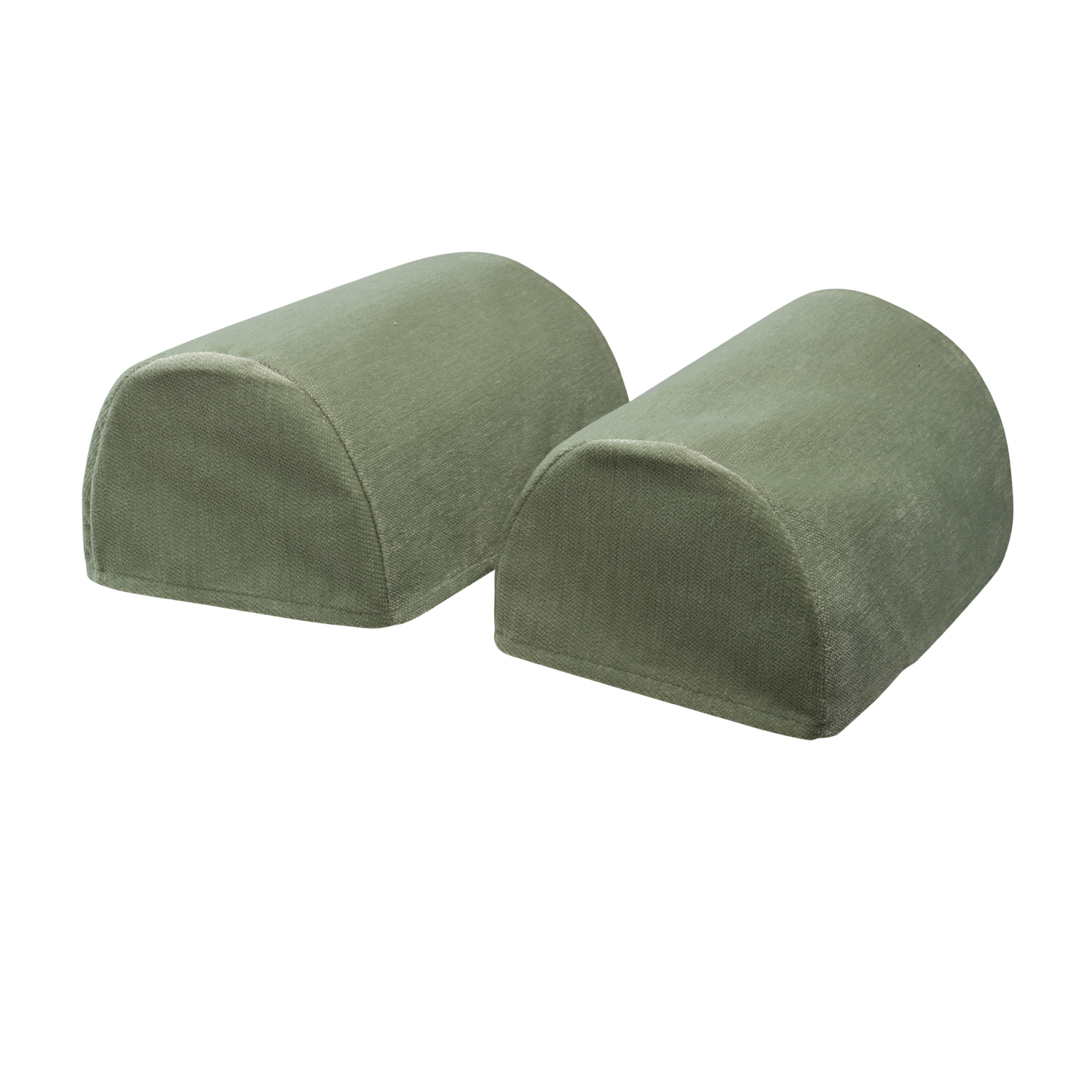 Plain Soft Touch Chenille Pair Of Rounded Arm Caps