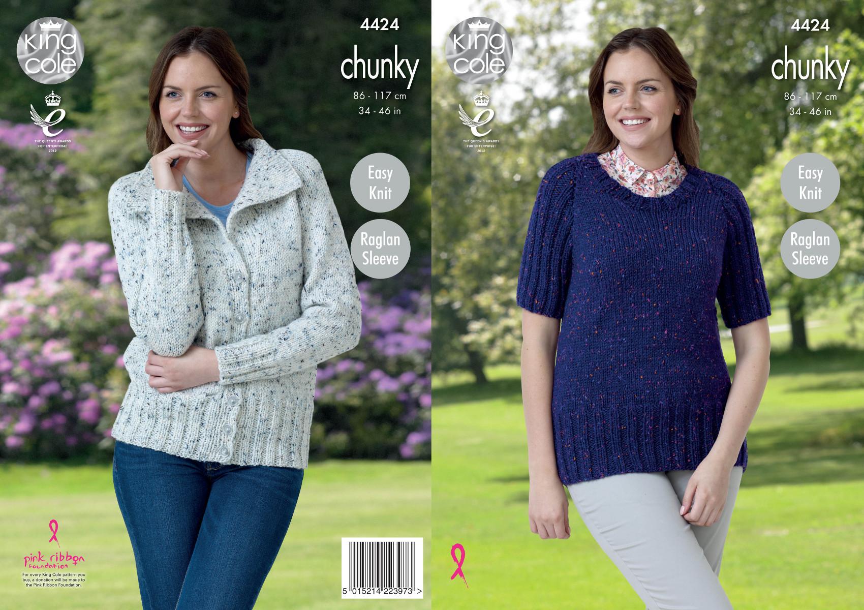 King Cole Ladies Knitting Pattern Easy Knit Jacket ...