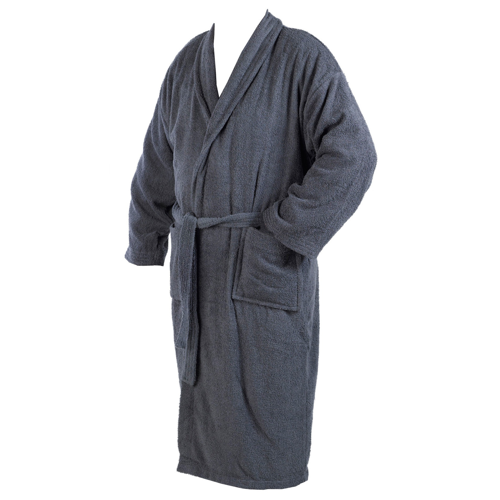 Dressing Gown 100% Cotton Terry Towelling Mens Womens Wrap Style ...