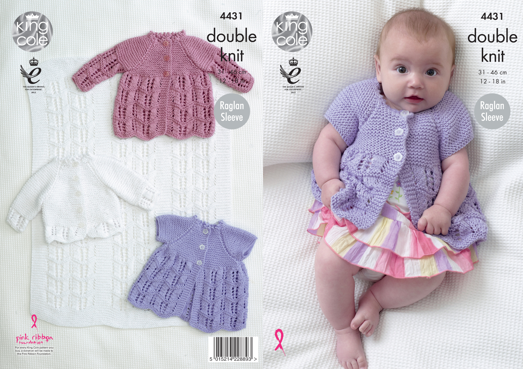 Knitting Patterns For Babies Double Knitting : King Cole Baby Double Knitting Pattern Matinee Coats Cardigan & Blanket D...