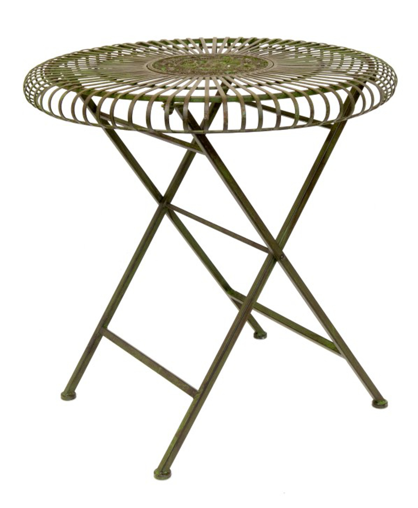 Bottle Green Round Table 2 Or 4 Folding Chairs Wrought