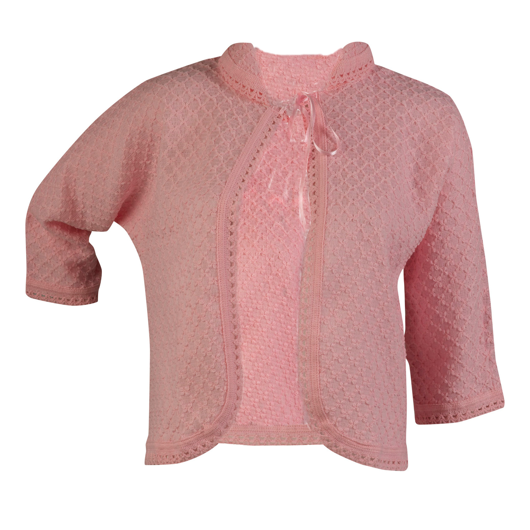 Ladies diamond pattern bed jacket ribbon tie house coat collar these ladies lightweight bed jackets have a diamond pattern throughout with crochet trim a peter pan collar and a ribbon tie for fastening bankloansurffo Image collections