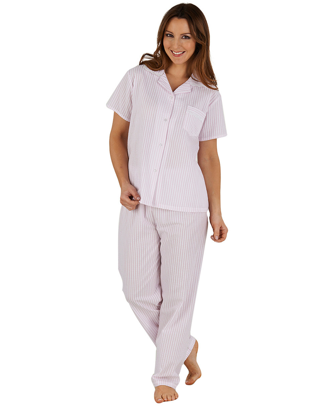 Product Features Ladies fleecy grey all in one pyjama suit with snowflake design.