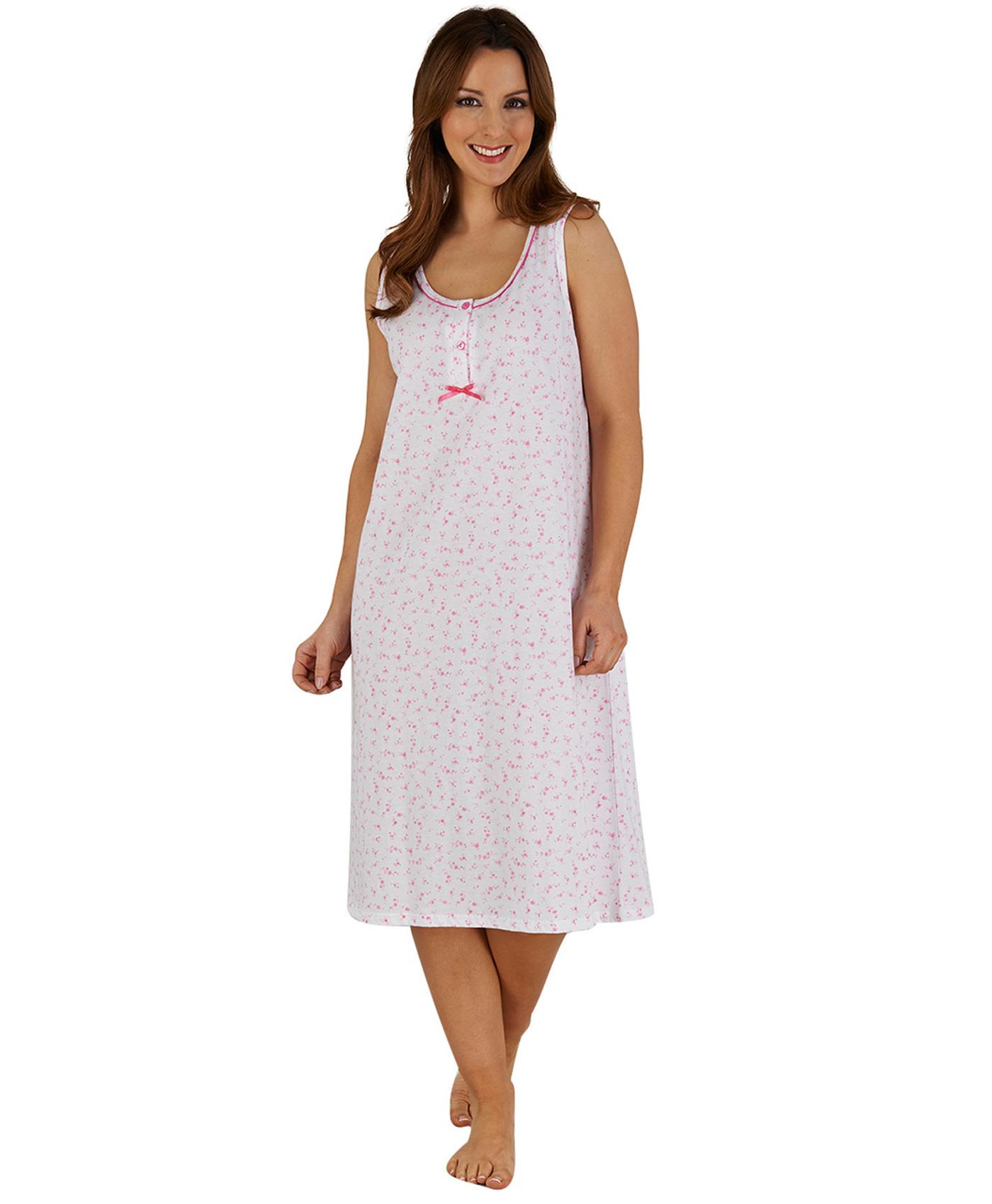 ladies slenderella 100 cotton floral nightdress. Black Bedroom Furniture Sets. Home Design Ideas