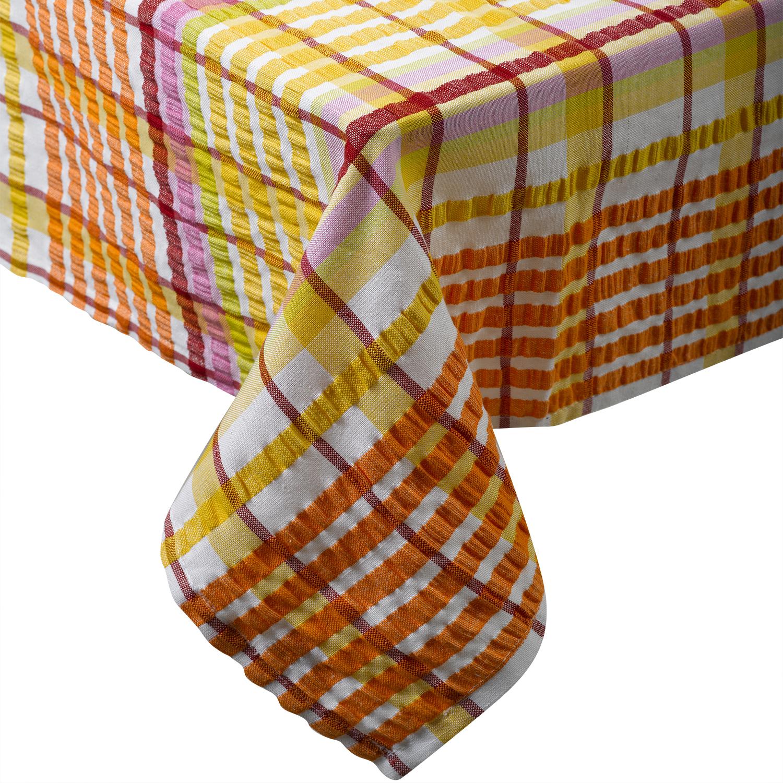100 Cotton Seersucker Tablecloth Bright Summer Garden