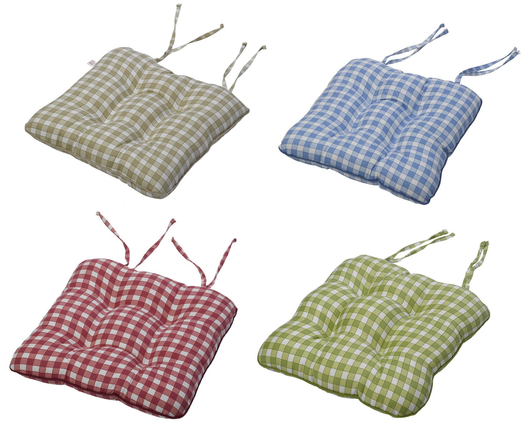 estampado guinga algodón cojín de asiento 35.6cmx38.1cm cocina